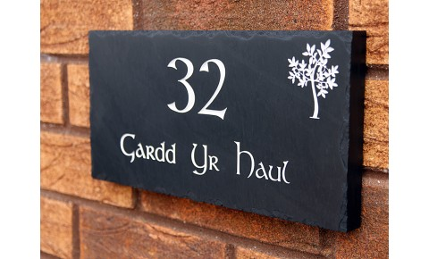 Personalised Slate House Signs | Engraved Slate House Signs